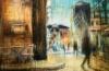 PICCOLA NOTTE A PARIGI, 40x30, olio pigmenti e smalti su tela, 2014