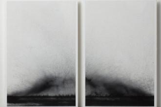 3 PATRIZIA NOVELLO_VARIAZIONI SULLA VELOCITA DI ABBANDONO, pigmento su olio su carta, 22,9x31,4 cm, 2013